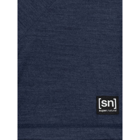 super.natural Logo Camiseta Hombre, azul